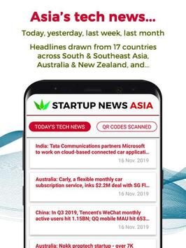 Startup News Asia Today's tech news