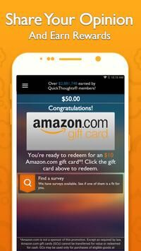 QuickThoughts: Take Surveys Earn Gift Card Rewards